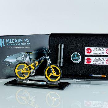 MICRODOT-ID-SET Markierung und Codierung durch künstliche DNA für E-Bikes und Fahrräder